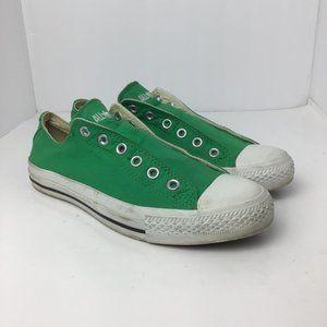 Converse Laceless Slip-On Sneakers Green Sz M8/W10